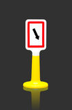 Keep right traffic sign Stock Photo