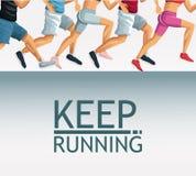 Keep running cartoon. Icon vector illustration graphic design vector illustration