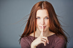 Keep silence Royalty Free Stock Photo