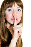 Keep silence, please Royalty Free Stock Photography