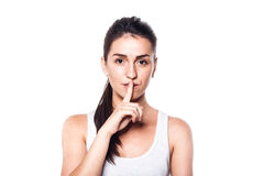 Keep silence, please! Stock Images