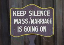 Keep silence sign Royalty Free Stock Photo