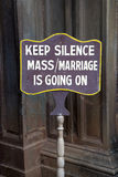 Keep silence sign Stock Images