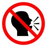 Keep Silence Symbol Sign, Vector Illustration, Isolate On White Background Icon. EPS10 vector illustration