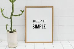 Keep it simple frame  Royalty Free Stock Photo