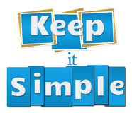 Keep It Simple Blue Squares Stripes Royalty Free Stock Photo