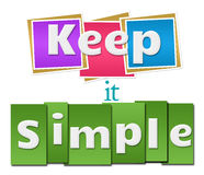 Keep It Simple Colorful Squares Stripes Stock Photography