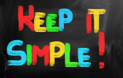 Keep It Simple Concept Royalty Free Stock Photo