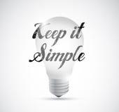 keep it simple light bulb idea sign Stock Photos