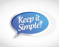 Keep it simple message sign illustration Royalty Free Stock Image