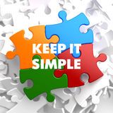 Keep it Simple on Multicolor Puzzle. Stock Photo