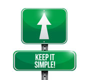 keep it simple road sign illustration Stock Photos