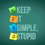 Keep it simple stupid illustration design. Over a chalkboard Royalty Free Stock Images