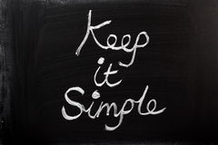 Keep It Simple Stock Image