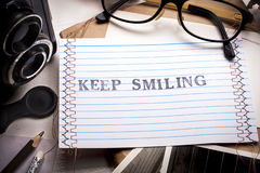 Keep smiling card Stock Photography