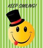 Keep smiling greeting or other message stock illustration