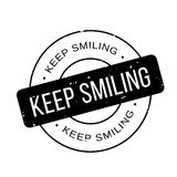 Keep Smiling rubber stamp. Grunge design with dust scratches. Effects can be easily removed for a clean, crisp look. Color is easily changed Royalty Free Stock Photos