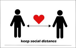 Free Keep Social Distance. Coronavirus COVID-19 Pandemic StayHome Royalty Free Stock Photos - 177575178