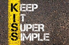 Keep It Super Simple - KISS Concept Stock Photos