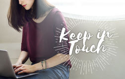 Keep in Touch Communication Connection Networking Concept Royalty Free Stock Photos