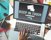 Keep In Touch Connection Relationship Follow Concept Royalty Free Stock Photography