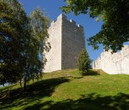 Keep tower of Celje medieval castle in Slovenia Royalty Free Stock Photography