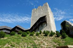 Keep tower of Celje medieval castle in Slovenia Stock Photos