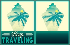 Keep traveling poster collection Stock Image