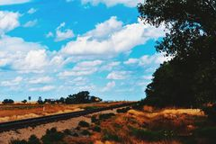 Keep on Trucking by Train Royalty Free Stock Photography
