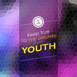 Keep true to the dreams Stock Images