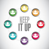 Keep it up people network sign concept. Illustration design graphic over white Stock Photography