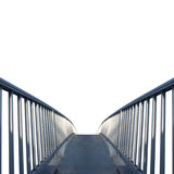 Keep on walking. Square shot of a bridge isolated on white background Royalty Free Stock Photos