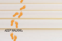 Keep walking Royalty Free Stock Images