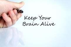 Keep your brain alive text concept Royalty Free Stock Images
