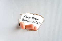 Keep your brain alive text concept Royalty Free Stock Photo