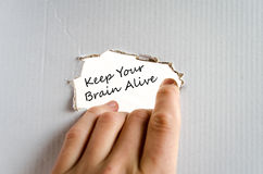 Keep your brain alive text concept Stock Images