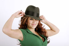 Keep your hat on Royalty Free Stock Images