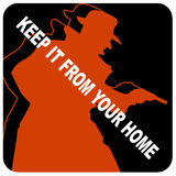 Keep it from Your Home Icon Royalty Free Stock Photos