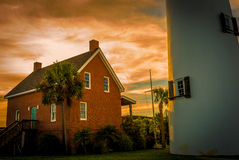 The Keeper. The lighthouse keeper's residence Royalty Free Stock Image
