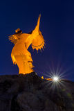 Keeper of the Plains Large Closeup with Light Royalty Free Stock Photography