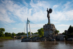 Keeper of the plains in Wichita Kansas Royalty Free Stock Photo