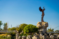 Keeper of the plains, Witchita Kansas royalty free stock images