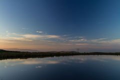 Keepers Pond, The Blorange. Upland water at sunset. Royalty Free Stock Images