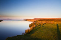 Keepers Pond, The Blorange. Upland water at sunset. Stock Photos
