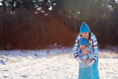 Keeping away the winter chills Stock Photography