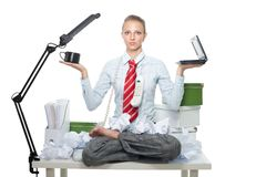 Keeping balance between work and joy Royalty Free Stock Photo