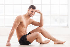 Keeping body in perfect shape. Stock Photo