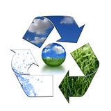Keeping the Environment Clean With Recycling Royalty Free Stock Photo