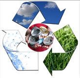 Keeping the Environment Clean With Recycling Alumi Royalty Free Stock Photo