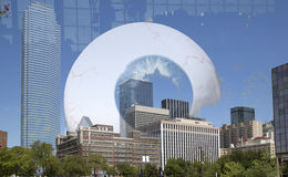Keeping an eye on  downtown Dallas Royalty Free Stock Photography